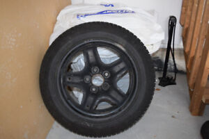 Michelin Winter Tires 225/55R17 with sensors on rims
