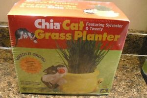 Chia Cat Grass Planter Featuring Sylvester & Tweety London Ontario image 1