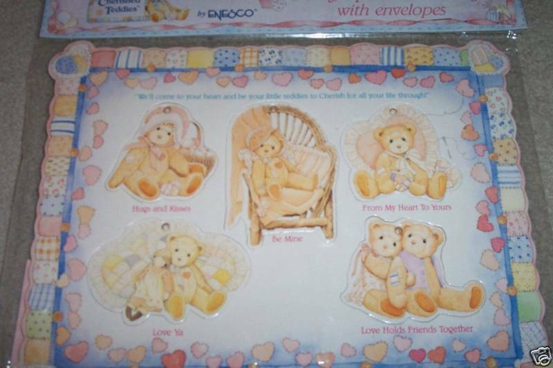 CHERISHED TEDDIES BEARY SPECIAL Ornaments GREETINGS & ENVELOPES 1993