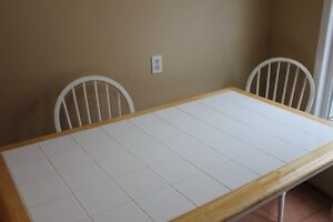 Tile Top Table 5' x 3' and 6 Chairs