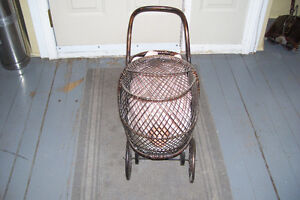 1800s PLASTER DOLL WITH PERIOD WICKER DOLL CARRIAGE London Ontario image 10