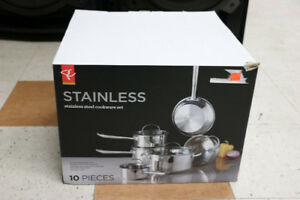 **STURDY** 10pc Stainless Steel Cookware Set (#2004)