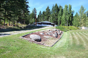 2 Acres With Nice Double Wide Home at 150 Mile House