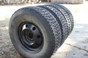 Set of 4 tires on rim, very good shape (bought new last winter)