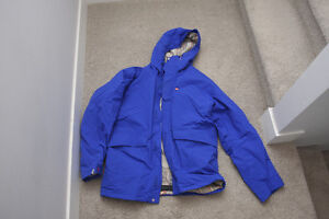 FOURSQUARE 5K NSEW BLUE SKI SNOWBOARD JACKET LARGE L WINTER