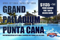Gander to Grand Palladium, Punta Cana- April 13th-20th $1135
