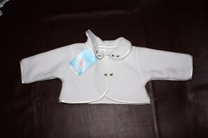 Brand new (with tags) baptism coat for girl