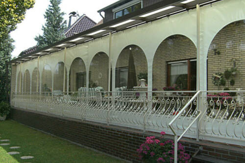 PVC Wintergarten Terrassen Pergola Verkleidung Wetterschutz Dach In  Euskirchen