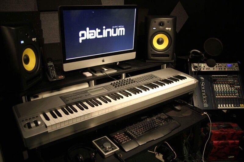 recording studio desk workbench workstation bench table for music production - Music Production Desk