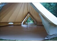 BRAND NEW CanvasCamp Sibley 600 Ultimate ProTech DD 6 metre canvas bell tent & inner tent