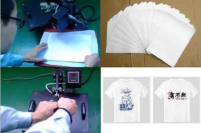 IRON ON T TEE Shirt LIGHT Transfer Paper A4 50 Sheets for inkjet printers