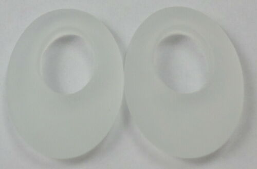 5 Sets (10) Frosted White Rock Crystal Quartz Gemstone HOOPS Pretty 20x15mm