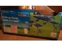 4 seat and folding table