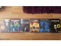 DVDs x 6 Horror Thriller Bundle 1