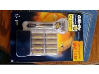 Gillette Fusion ProShield with 9 sets of blades
