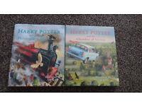 Harry Potter illustrated hardback books