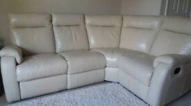 Superior real leather corner suite