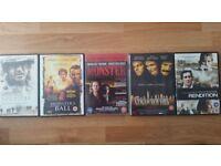 DVDs x 5 bundle: Action Horror Thriller