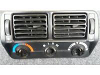 Escort RS Turbo S2/XR3i central air vents and heater control facia panel