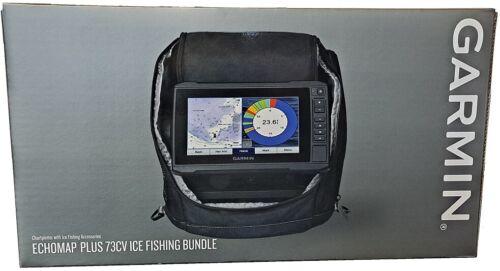 Garmin ECHOMAP PLUS 73cv ICE BUNDLE + ClearVu Chirp + US Lakes + GT10 Transducer