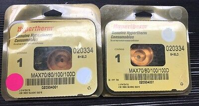 Hypertherm 020334 Shield For Max 7080100 And Max 1000 Plasma Torch 2pcs 2pack