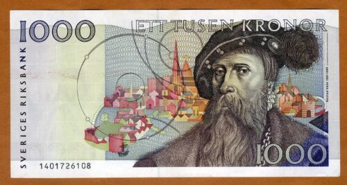 Sweden, 1000 Kronor, 1991, P-60, aUNC