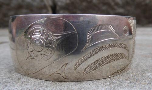 Northwest Coast Silver Eagle Bracelet Canada First Nations Native