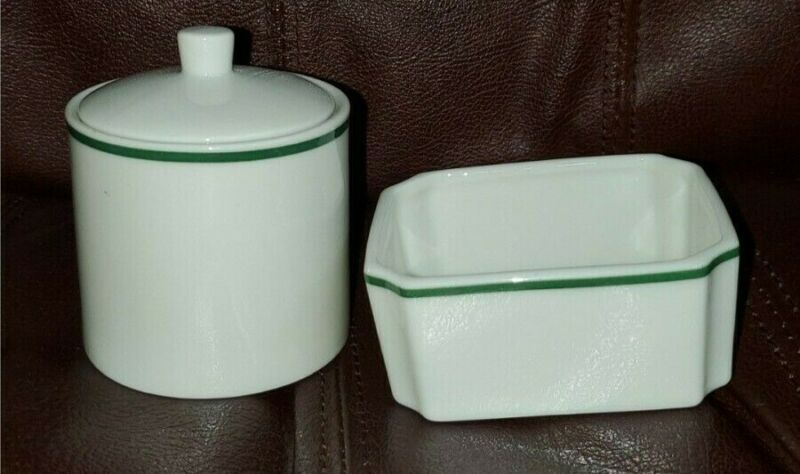 Woodmere, 2 piece of containers, square dish & round jar with lid