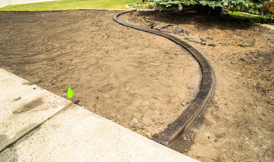 Solid Plastic Landscape Timbers : How to install landscape edging