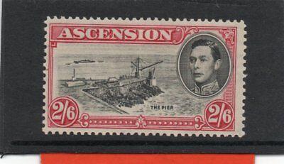 Ascension GV1 1938-53 2/6s black&deep carmine sg 45 H.Mint