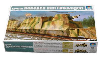 Trumpeter 9361511 Kanonenwagen Flakwagen 1:35 Eisenbahn Zugwaggon Modellbausatz
