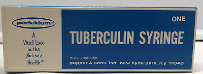 Perfektum 5202 Tuberculin Syringes 1cc Non-sterile New