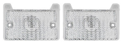 1970 Nova Chevy II Parking Light Lens Clear with Gaskets Pair