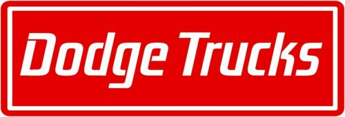 "Dodge Trucks Marquee Style New Metal Sign: 6"" x 18"" Long - Ships Free"