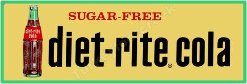 """DIET RITE-COLA 6"""" x 18"""" ALUMINUM Sign"""