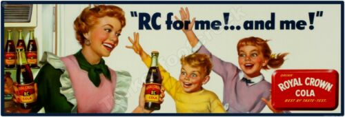 """ROYAL CROWN COLA """"RC FOR ME"""" 6"""" x 18"""" ALUMINUM Sign"""