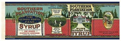 Southern Plantation  Vintage Cairo Georgia   An Original 1920 S Tin Can Label