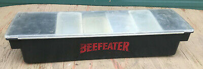Beefeater Condiment Tray Holder Caddy 6 Bin Compartment Bar Beef Eater