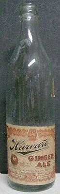 1920's Harvard Ginger Ale 16 oz. Bottle - Lowell, MA
