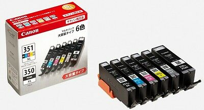 Canon genuine Ink Cartridge BCI-351XL(BK/C/M/Y/GY)+BCI-350XL 6-color large