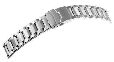 Uhrenarmband Edelstahl 22 mm Uhrband Metallband mit Faltschließe Top-Qualität