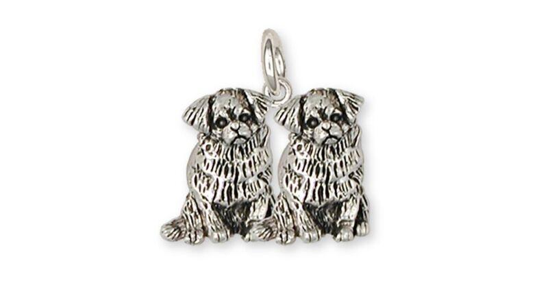 Tibetan Spaniel Charm Handmade Sterling Silver Dog Jewelry TS3D-C