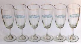 6 VINTAGE SNOWBALL DRINKING GLASSES