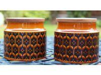 Pair of retro Hornsea Storage Jars