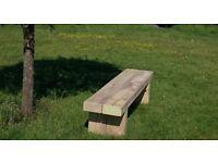 Double sleeper bench railway sleeper seat bench furniture Summer Furniture Set Loughview JoineryLTD
