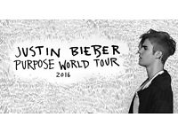 2 x Justin Bieber World Purpose Tour Tickets @ The O2 Arena, Saturday 15th October 2016 - 18:30