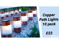Brand New Copper Path Lights