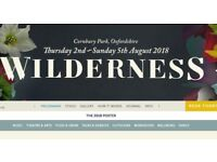 Wilderness Festival 2018 general camping ticket
