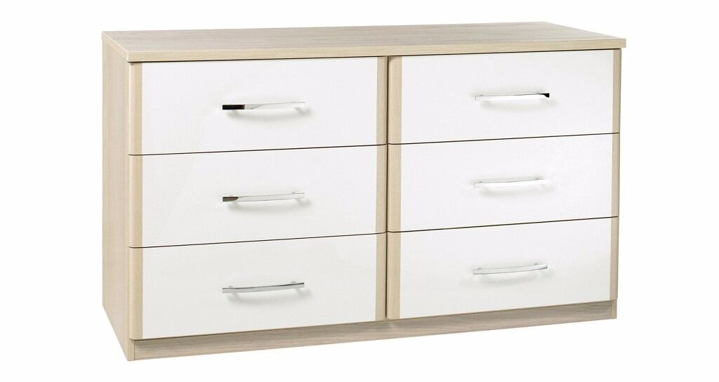 6 Drawer Chest Blanco Collection Dfs White New Amp Unpacked