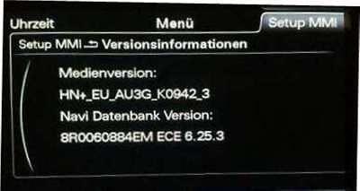 Audi MMI 3G Plus HN+ Navi Update - A1 A4 A5 A6 A7 A8 Q3 Q5 Q7 Europa 2018